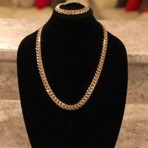 Other - Miami Cuban Link Necklace and Bracelet Set